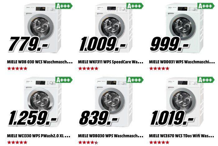 Miele Waschmaschinen zu Bestpreisen dank 15% Media Markt Club Rabatt