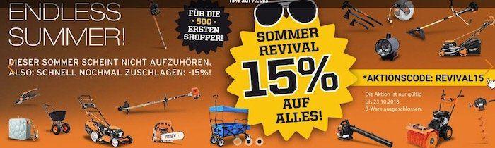 Fuxtec: 15% auf fast alles   z.B. Benzin Rasenmäher FX RM5396P für 347,65€ (statt 399€)