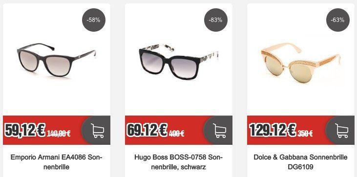 Restposten Marken Sonnenbrillen (Hugo Boss, Diesel, ...) + VSK frei   z.B. Emporio Armani EA4086 für 59,12€ (statt 67€)