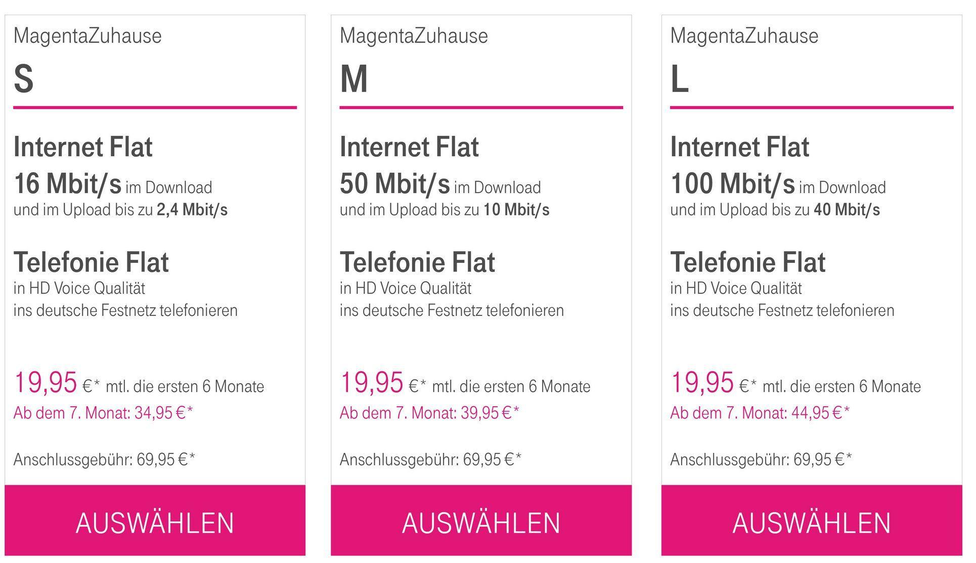 Telekom MagentaZuhause Tarife (DSL + Telefon) mit fetten Prämien   z.B. Apple HomePod oder Philips 50 4K TV