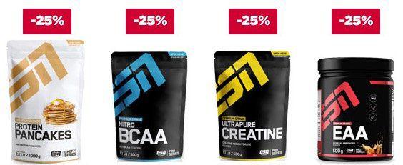 25% Rabatt auf 10 ESN Topseller Produkte bei Fitmart   z.B. 4kg ESN Whey für nur 56,68€ (statt 69€)