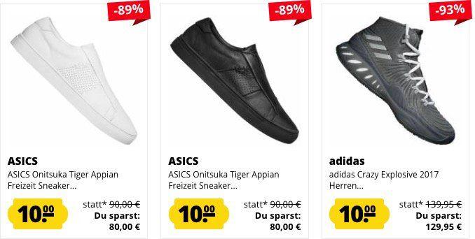 Schuh Knaller 🔥 ausgewählte Schuhe (adidas, Puma, Asics, ...) nur 10€ bei SportSpar (zzgl. VSK)   nur wenige Größen!