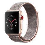 Apple Watch Series 3 42mm GPS + Cellular mit Sport Loop in Gold/Sandrosa für 299€ (statt 339€)