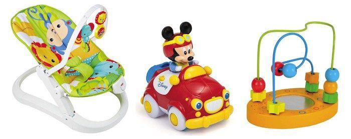 Günstiges Spielzeug bei TOP12   z.B. Fisher Price Rainforest Kompakt Wippe für 54€ (statt 61€)