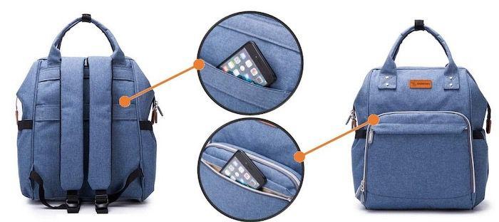 Großer Wickelrucksack mit vielen Taschen für 14,99€ (statt 29€)