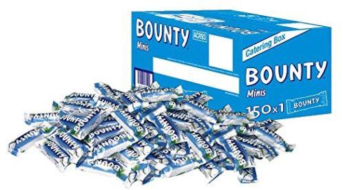 150 Snickers / Bounty / Mars Mini Riegel (2,7kg) ab 16,62€ (statt 22€)