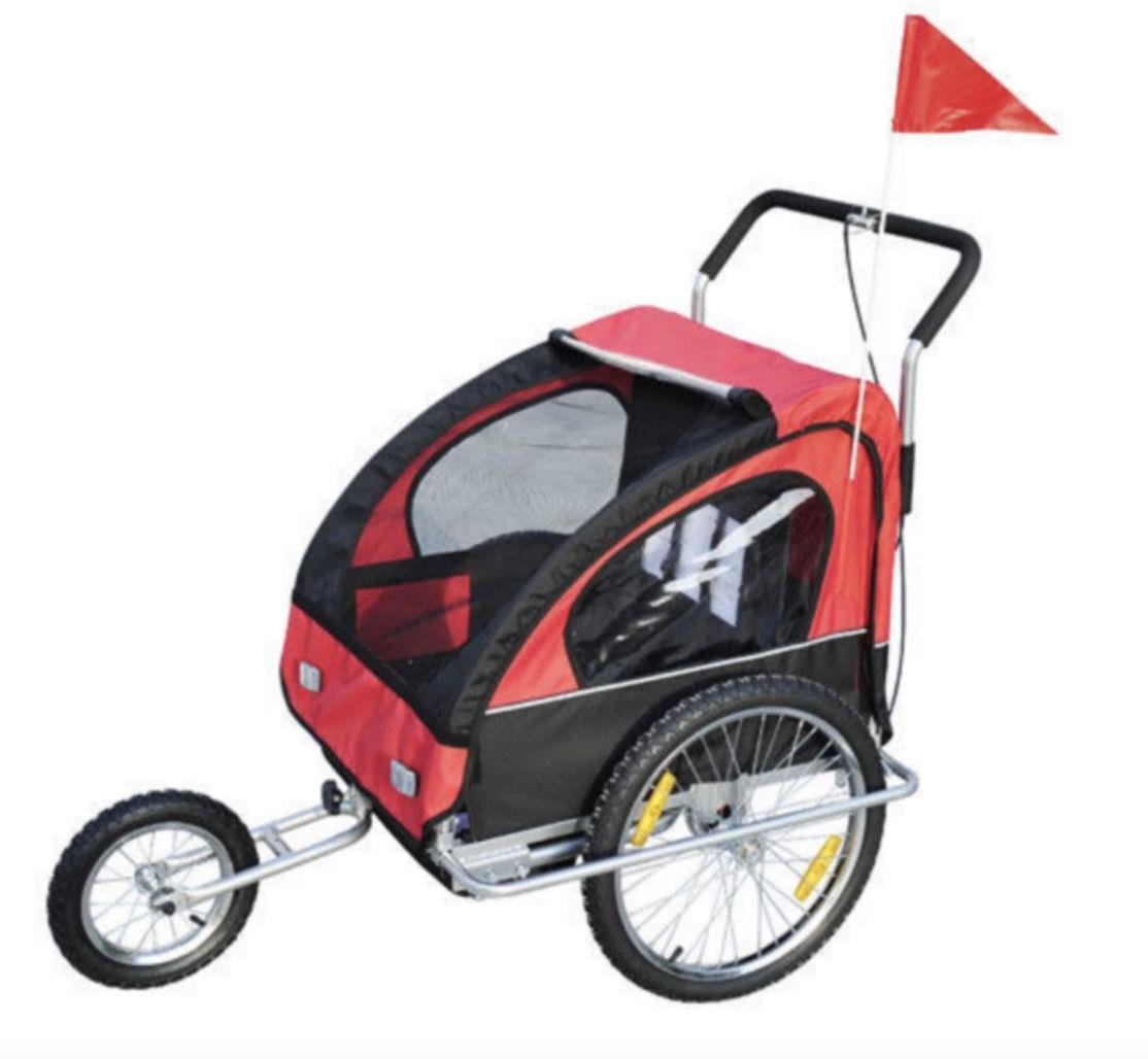HOMCOM  2 in 1 Kinder Fahrradanhänger für 109,99€ (statt 129€)