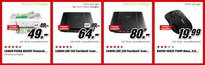 Media Markt Büro Tiefpreis Woche: heute z.B. RAPOO 12116 8900P Tastatur und Maus für 45€ (statt 65€)