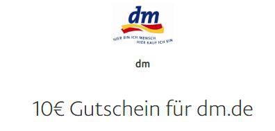 Wieder vorbei! 10€ PayPal Gutschein (MBW 39€) bei DM   begrenzt auf 1.500 Stück