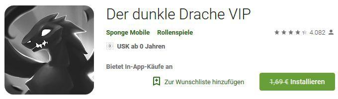 Der dunkle Drache (Android) gratis statt 1,69€