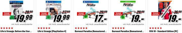 FIFA 18 (PS4) + Spanien Trikot für 20€ uvm. im Media Markt Dienstag Sale