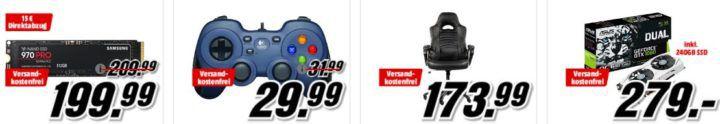 Media Markt GiGaGünstig Sale: PC Hardware & Zubehör reduziert z.B. SAMSUNG 860 EVO   500 GB SSD für 79,99€ (statt 86€)