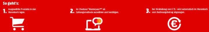 Masterpass: 15€ Rabatt auf ausgewählte Spiele bei Media Markt & SATURN