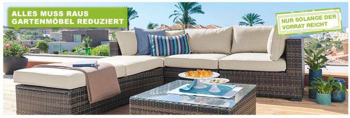 XXXLutz großer Gartenmöbel Ausverkauf mit bis zu 35% + VSK frei ab 250€