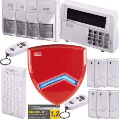 Hama Xavax DELUXE   Funk Alarm Basis Anlage inkl. Türsensor & Sirene für 99€