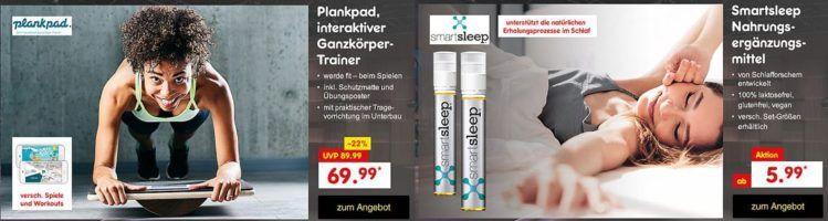 Smartsleep Nahrungsergänzungsmittel für 19,99€   Plankpad Fitnesstrainer für 69,99€ die aktuellen Höhle der Löwen Deals