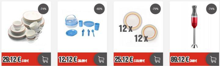 Top12: günstige Besteck  und Geschirrsets & Zubehör z.B. Arte Viva Kaffee  und Tafelservice für 29,12€