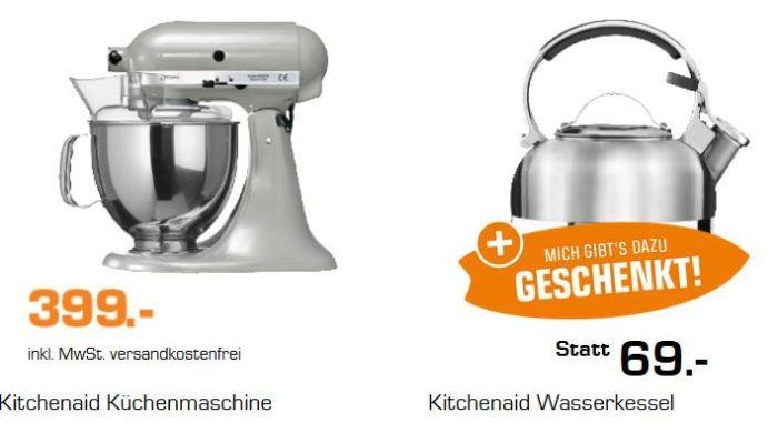 KitchenAid Artisan Küchenmaschine + KITCHENAID Wasserkessel für 399€ (statt 469€)