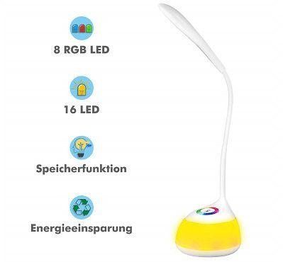 VICTSING LED dimmbare Tischleuchte mit Schwanenhals mit 3 Helligkeitsstufen für 11,49€ (statt 22€)