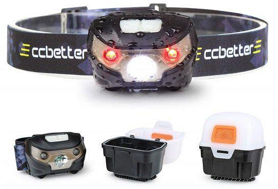 ccbetter LED Stirnlampe inklusive USB Kabel + Lichtkasten für 7,49€ (statt 16€)