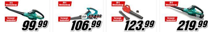 Laubsauger  u. Bläser Aktion ab 42,99€ bis zu 30€ Sofort Rabatt beim Media Markt