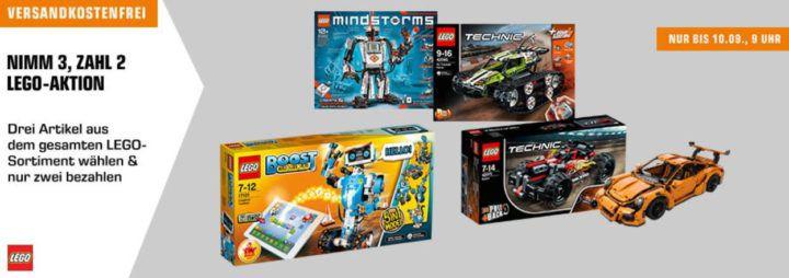 Bis 9 Uhr! Saturn Lego Multibuy: 3 Artikel kaufen und nur 2 zahlen   im ganzen Sortiment!