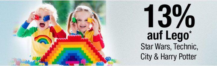 Galeria Kaufhof Dienstag Angebote: heute 13% Rabatt auf ausgewählte Spielwaren von Lego Star Wars, Technic, City & Harry Potter