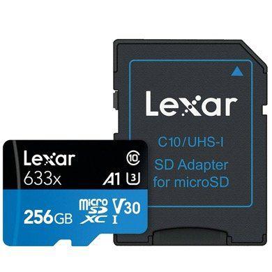 Lexar 256GB microSDHC High Speed Speicherkarte mit SD Adapter für 32,98€ (statt 46€)