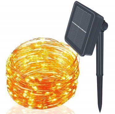 Kimitech Lichterketten mit 100 LEDs, 12m, wasserdicht für 7,99€ (statt 16€)