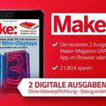 """2 Ausgaben """"Make"""" (digital) gratis – endet automatisch"""
