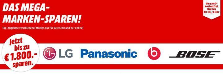 Media Markt Marken Sparen: günstige Artikel von LG, Panasonic, Beats und Bose
