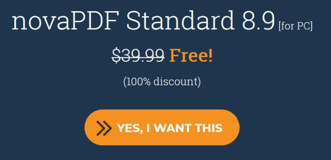 NovaPDF Standard 8.9 (Lifetime Lizenz, Windows) kostenlos
