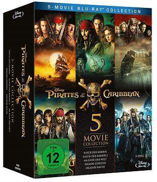 Pirates of the Caribbean 1   5 als Blu ray für 25€ (statt 30€)