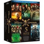 Pirates of the Caribbean 1 – 5 als Blu-ray für 25€ (statt 30€)
