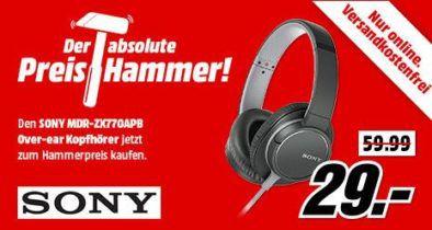 SONY MDR ZX770   Kopfhörer ab 24,65€ (statt 33€)