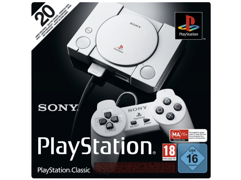 Playstation Classic mit 20 vorinstallierten Spielen für 39,99€ (statt 46€)
