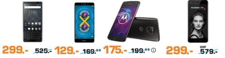 Saturn: Nacht der Smartphones   z.B. MOTOROLA MOTO Z2 FORCE 64 GB 5.5 Zoll für 249€ (statt 289€)
