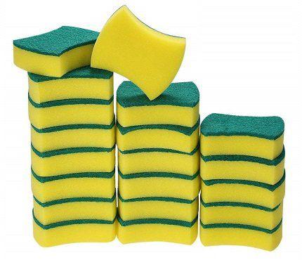 20 Stück Esonmus zweiseitige Reinigungsschwämme für 9,34€ (statt 16€)