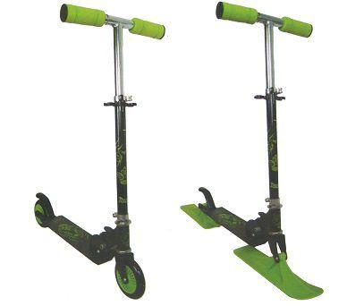 2in1 Scooter mit 120 mm Rollen und Kufen für 19,99€ (statt 23€)