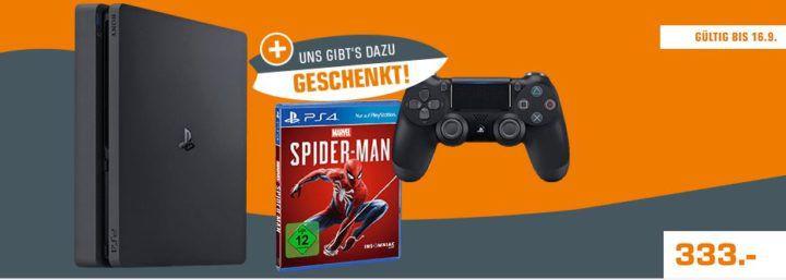 TOP! PlayStation 4 Slim 1TB + Spiderman Game + 2. Controller für 333€ (statt 424€)