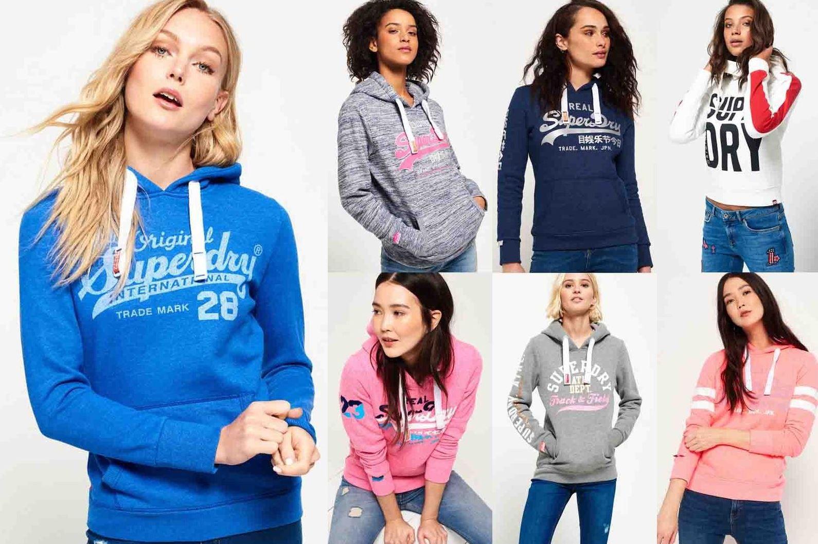 Superdry Damen Hoodies & Zipper 34 Modell bis XL für je 29,95€
