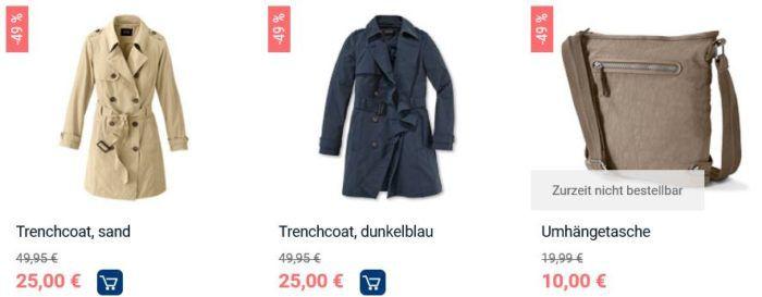 Tchibo Flashsale bis Freitag Mitternacht! Bis zu 80% Rabatt   z.B Damen Trenchcoat ab 25€