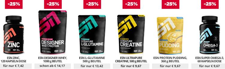 25% auf alle ESN Produkte bei fitmart   z.B. ESN Whey ab 14,17€