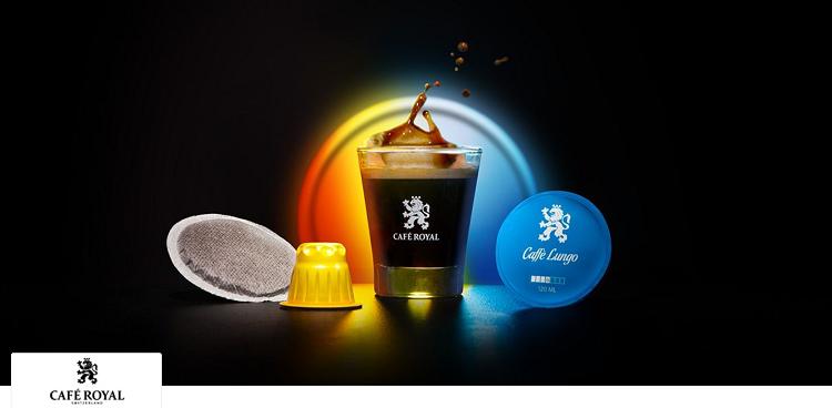 Café Royal   Kaffeekapseln oder Pads bei vente privee   z.B. 100 Espresso Forte Kapseln ab 17,99€