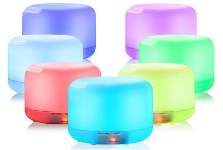 Ultraschall Luftbefeuchter mit LED Beleuchtung für 11,46€