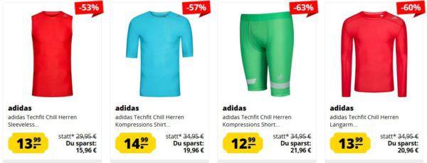 adidas Techfit mini Sale: günstige Sport Funktionswäsche ab 12,99€ (+VSK)