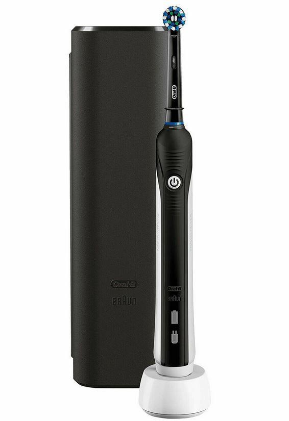 Braun Oral-B Pro 2500 in Schwarz – Elektrische Zahnbürste mit Reiseetui für 37,11€ (statt 46€)