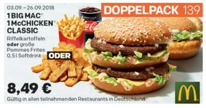 Coupon September big-mac-und-mcchicken-doppelpack-menü
