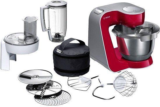 Bosch CreationLine MUM58420 Küchenmaschine in red/silber für 159€ (statt 190€)