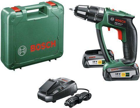 Bosch PSB 18 LI 2 Ergonomic mit 2 x 2,5Ah Akku für 166€ (statt 194€)